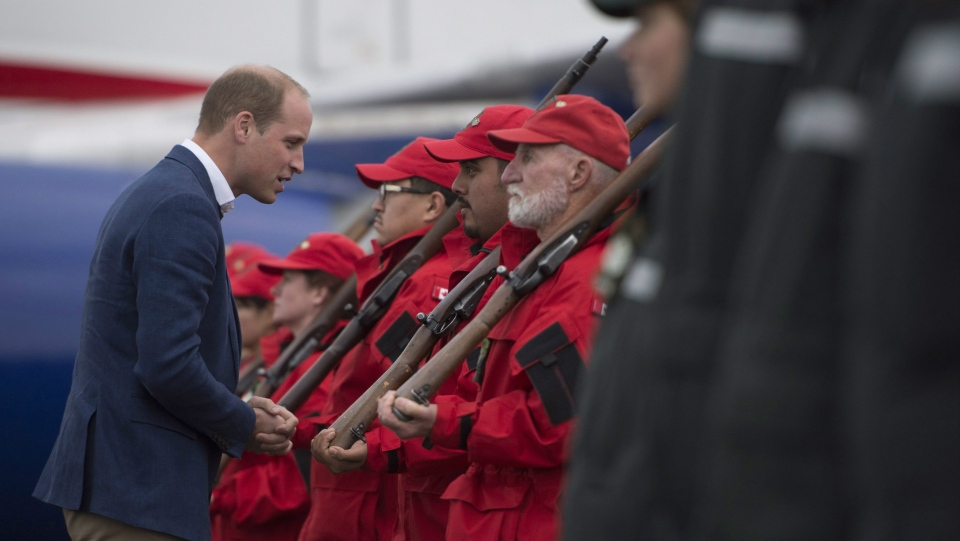 The Duke of Cambridge inspects the Canadian Rangers in Whitehorse, Yk., Tuesday, Sept 27, 2016. THE CANADIAN PRESS/Jonathan Hayward