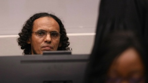 Ahmad al-Faqi al-Mahdi is seen at the International Criminal Court in The Hague, Netherlands, at the verdict session of his trial on charges of involvement in the destruction of historic mausoleums in the Malian desert city of Timbuktu on Sept. 27, 2016. EPA / Bas Czerwinski)
