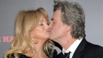 Goldie Hawn and Kurt Russell at the Ziegfeld Theatre in New York, on Dec. 14, 2015. (Evan Agostini / Invision / AP)