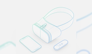 Draft for a potential VR headset, presented at the Google I/O conference in spring 2016. (Google Daydream)