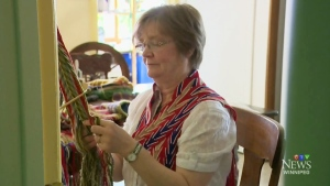 Local finger weaver bringing history back to life