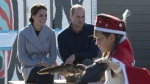 The Duke and Duchess of Cambridge watch young dancers perform in Carcross, Yukon on Wednesday, Sept 28, 2016. (Jonathan Hayward / THE CANADIAN PRESS)