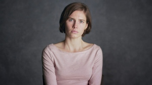 Amanda Knox in a scene from her self-titled documentary. (Netflix via AP)