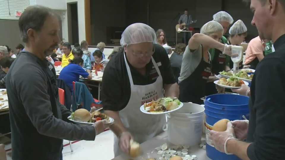 A Soul's Harbour Rescue Mission Thanksgiving meal service is seen in this photo from 2016.