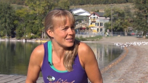 Vernon, B.C. resident Shanda Hill is preparing to become the Canadian woman ever to compete in the Quintuple Anvil. Sept. 29, 2016. (CTV)