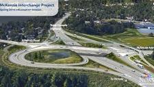 Construction on the McKenzie interchange