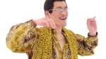 Kosaka Daimaou, as his character Piko-Taro, is shown in this still image from the viral video 'PPAP: Pen Pineapple Apple Pen.' (Chee Yee Teoh / YouTube)