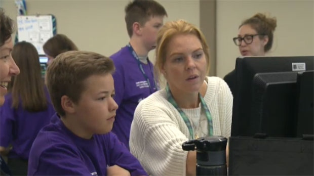 Twelve youth between the ages of 13 and 18 were given a chance to tour the WestJet headquarters in Calgary.