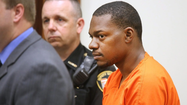 Charles Crawford, 24, in a Clermont County Municipal courtroom. (Liz Dufour /The Cincinnati Enquirer via AP)