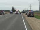 OPP investigate multi-vehicle crash on highway 23 and line 89 North of Gowanstown, near Palmerston. (Abiey Lema/CTV Kitchener )