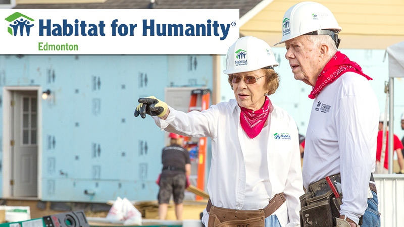 Former U.S. president Jimmy Carter and his wife Rosalynn will visit Edmonton in 2017 to participate in a massive Habitat for Humanity build.