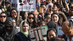 Afghanistan's ethnic Hazaras demonstrate in Brussels, on Oct. 5, 2016. (Olivier Matthys / AP)