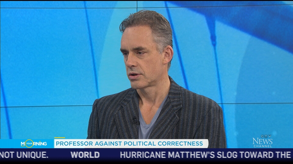 University of Toronto professor Jordan Peterson appears on CTV's Your Morning on Wednesday, Oct. 5, 2016.
