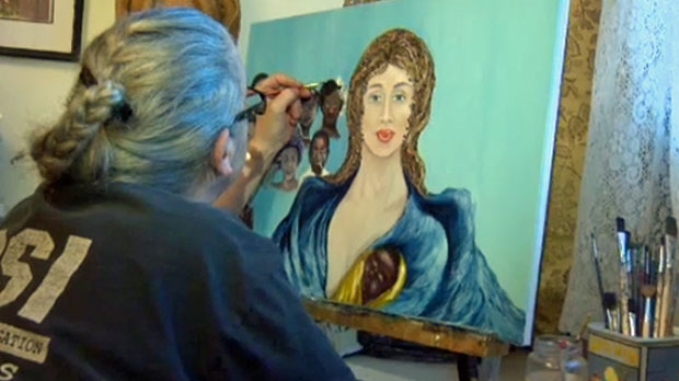 Roxanne Mallette has picked up a paintbrush after a hiatus that lasted more than 20 years