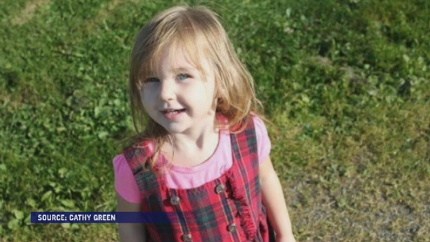 Maddie MacDonald, 5, is in stable condition after she was struck by a dump truck on Tuesday. (Photo: Cathy Green)