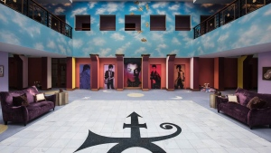 This undated photo shows the atrium of Prince's Paisley Park in Chanhassen, Minn. (Paisley Park/NPG Records via AP)