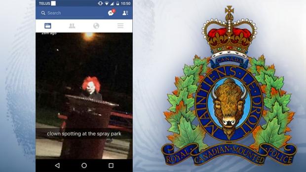 Creepy clown in Fort Saskatchewan