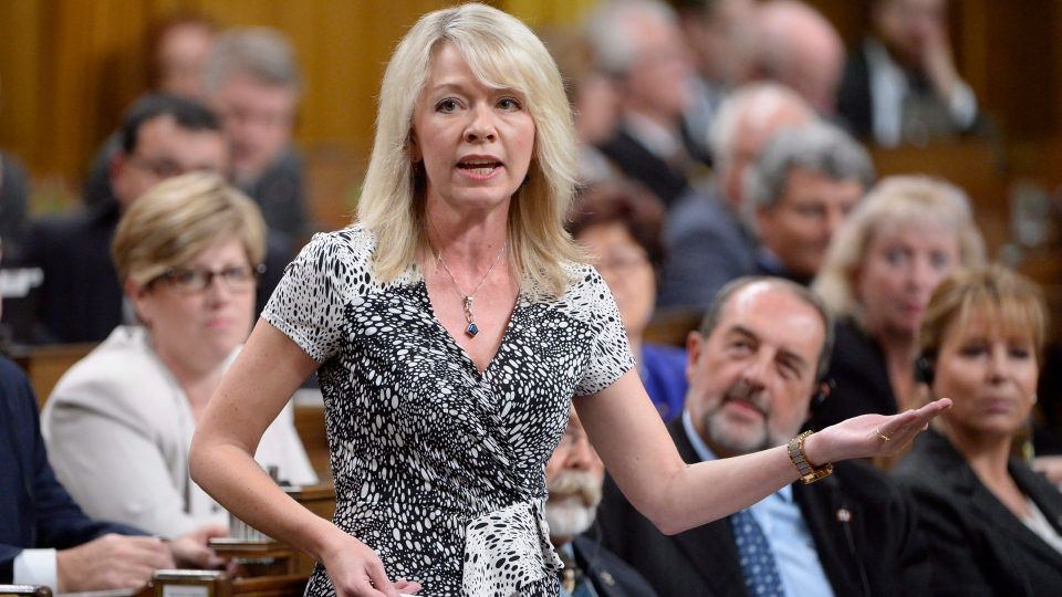 Conservative MP Candice Bergen asks a question during question period in the House of Commons on Parliament Hill in Ottawa on Thursday, Oct. 6, 2016. (THE CANADIAN PRESS/Adrian Wyld)