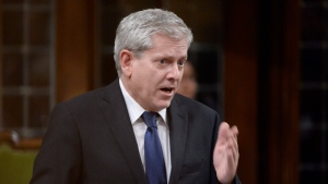 NDP MP Charlie Angus asks a question during Question Period in the House of Commons in Ottawa on Monday, Oct.3, 2016. (Adrian Wyld / THE CANADIAN PRESS)