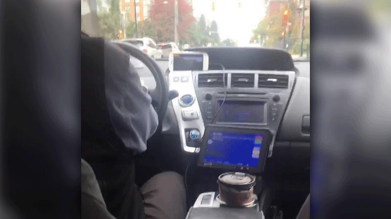 Cab driver plays movie