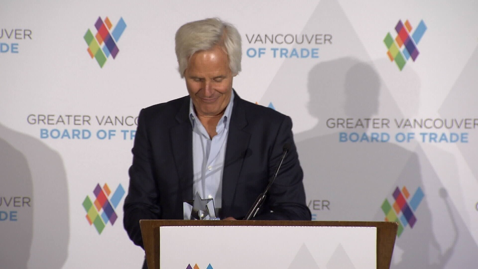 Carter was honoured with the VIFF Industry Builder Award Friday night in Vancouver. (CTV)
