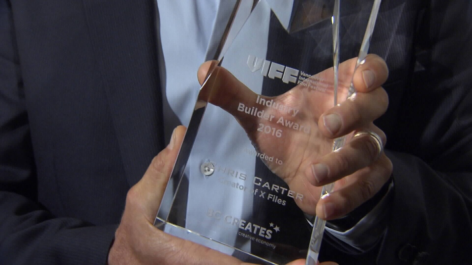 Chris Carter, creator of the show X-Files, was honoured with the VIFF Industry Builder Award.