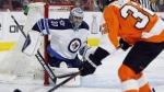 File image of goalie Ondrej Pavelec playing for the Winnipeg Jets. (The Canadian Press/AP/Tom Mihalek)