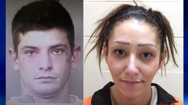 Authorities are looking for two people from B.C. wanted in connection with a series of robberies in the Cranbrook area. They may be in Calgary.