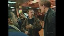 Activist farmer José Bové arrives in Quebec City in 2001