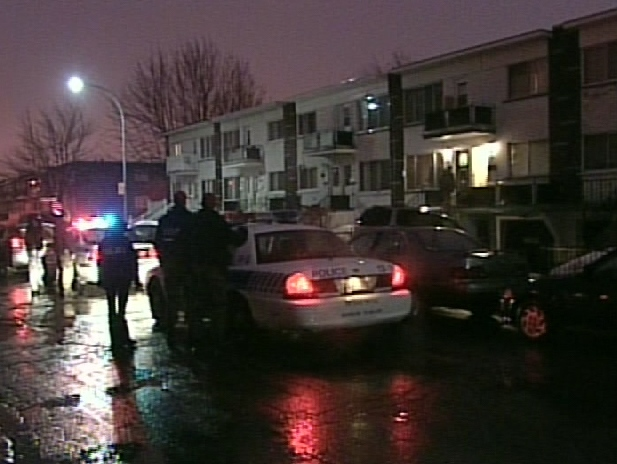 Montreal police conduct raids targeting outlaw bikers and street gang early Thursday morning, Feb. 12, 2009.