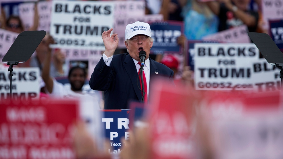 Republican presidential candidate Donald Trump speaks during a campaign rally, Wednesday, Oct. 12, 2016, in Lakeland, Fla. (AP Photo / Evan Vucci)