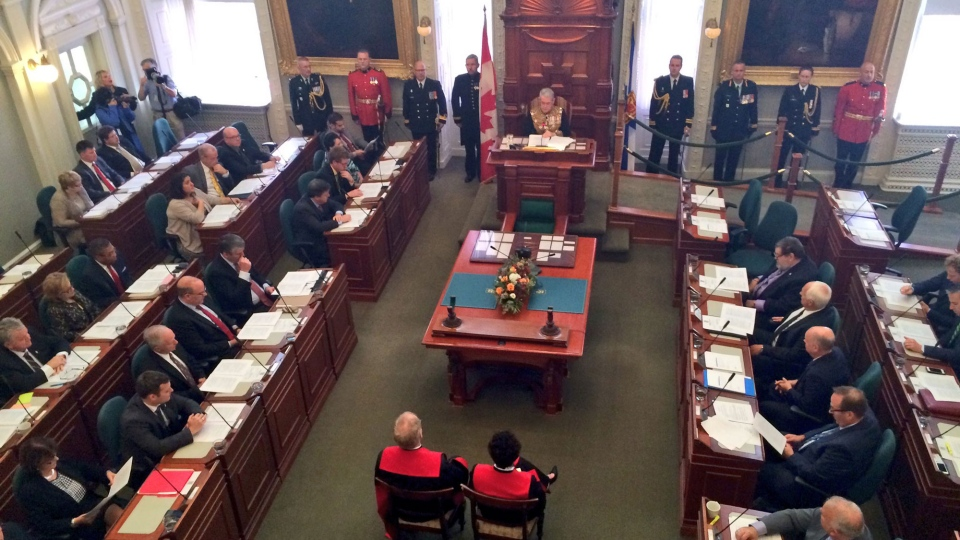 A new session of the Nova Scotia legislature begins in Halifax on Oct. 13, 2016.