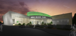 An early rendering of the proposed Merlis Belsher Place, a new arena planned for the University of Saskatchewan, is seen here. The university released images of the plans Thursday, Oct. 13, 2016. (supplied)