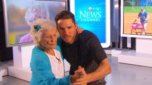 Kitty Cohen and Blake McGrath practiced their moves in studio Thursday. (CTV)