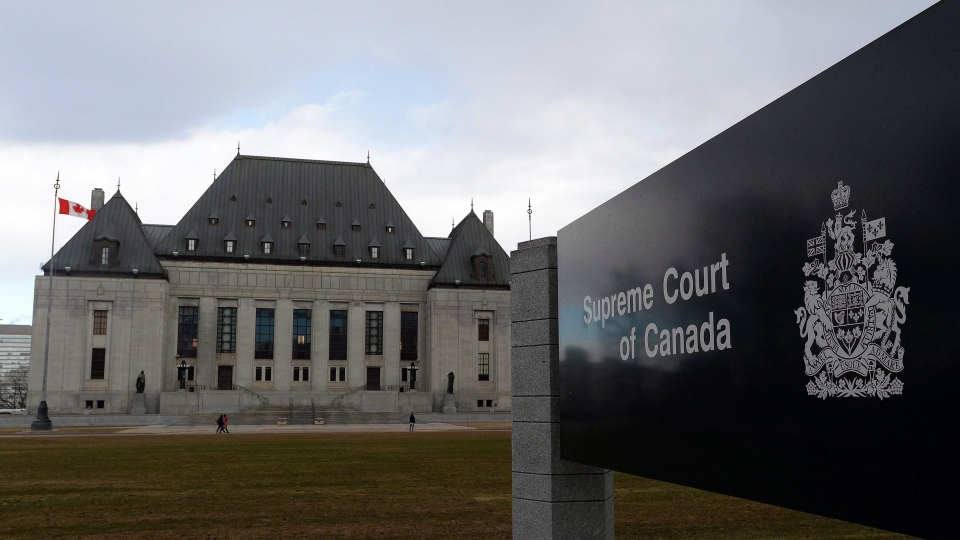 The Supreme Court of Canada in Ottawa is shown on Tuesday, April 14, 2015. (THE CANADIAN PRESS / Sean Kilpatrick)