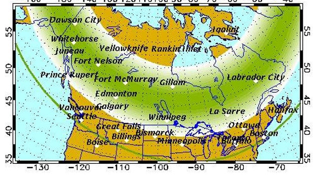 northern lights forecast Oct 15th 2016