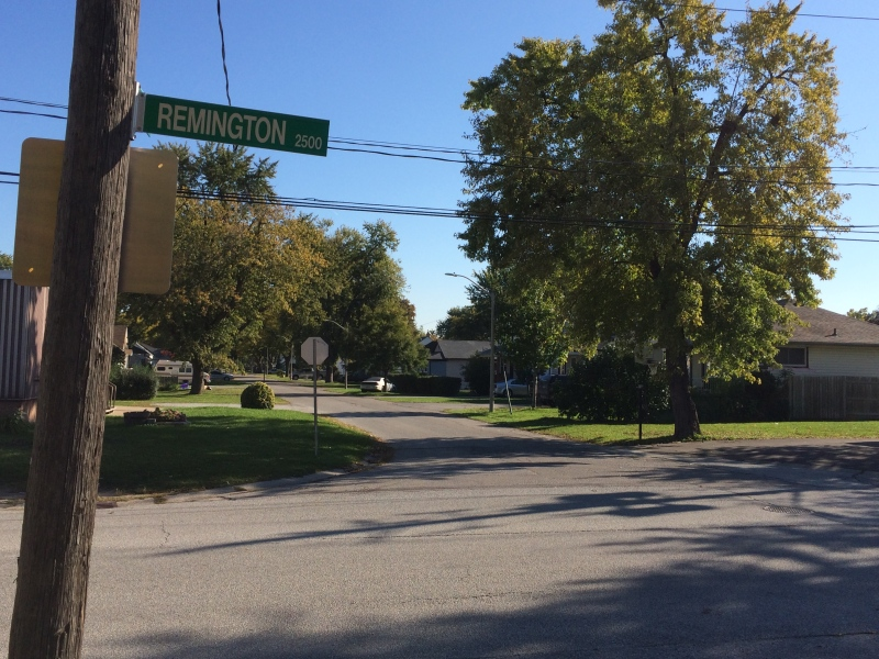Remington Avenue in Windsor, Ont., on Friday, Oct. 14, 2016. (Michelle Maluske / CTV Windsor)