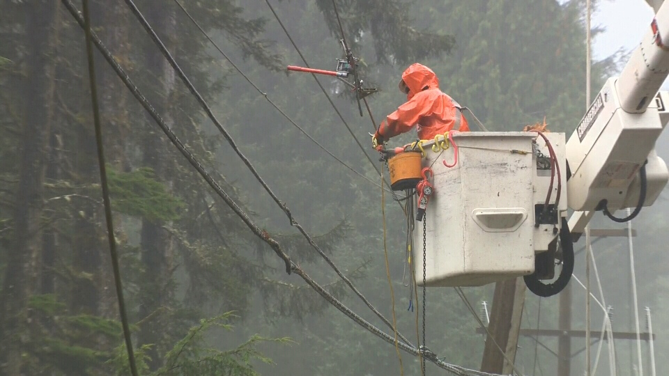 BC Hydro customers in Colwood, Metchosin, Port Renfrew and Jordan River were without power Friday morning. (CTV News)