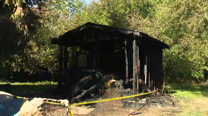 Police say shed fire on Myers Road in Cambridge is considered suspicious. (Oct. 15, 2016)