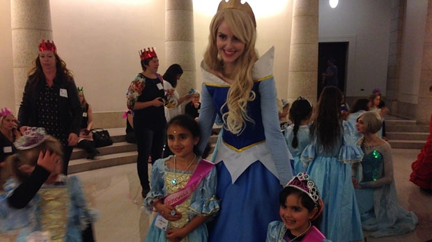 Young girls were crowned royalty at the 11th annual Princess for a Day fundraising event in support of multiple Manitoba children's charities. (Gary Robson/ CTV Winnipeg)
