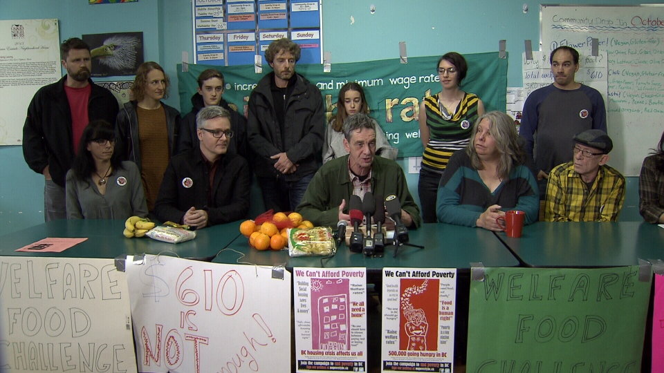 The fifth annual Welfare Food Challenge is designed to put a spotlight on B.C.'s welfare rates, which have been frozen at $610 per month for years. (CTV)