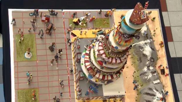 SAIT cake celebrating the school's centennial