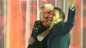 Kitty Cohen and choreographer Blake McGrath danced cheek-to-cheek in front of fans and some of the world's top dancers at the Toronto International Centre Sunday. (CTV)