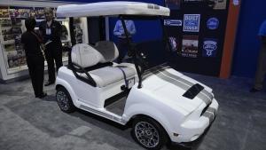 A Ford Mustang Golf Cart at SEMA 2013 (SEMA 2013)