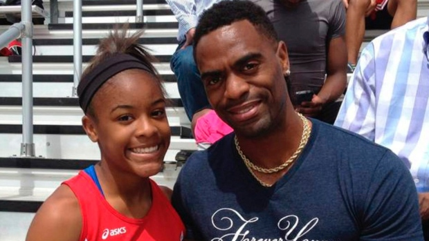 Trinity Gay with her father Tyson Gay