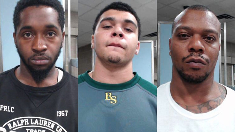 From left, Dvonta Middlebrooks, D'Markeo Taylor and Chazerae Taylor in a composite of photos provided by the Lexington Police Department. (Lexington Police Department via AP)