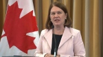 Health Minister Jane Philpott speaks to reporters Monday, Oct. 17, 2016.
