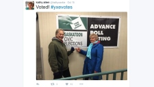 Kathy Allen twitter voting photo