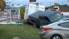 Gatineau bus shelter collision