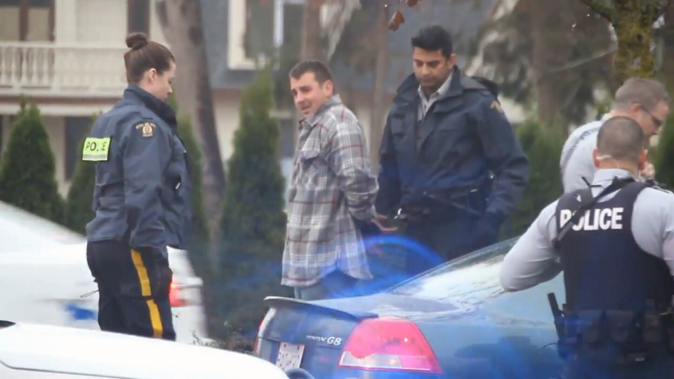 Jason Francis Wallace was arrested a Surrey road stop on Oct. 17, 2016. He is charged with second-degree murder in the death of a Hells Angels member.